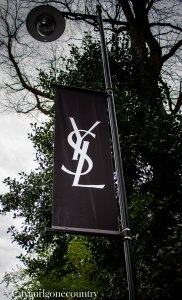 YSL advertising outside the museum entrance.