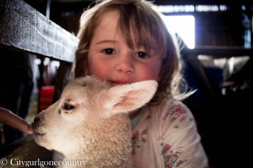 Florie and a lamb!